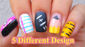 creative nail art back to nail art ideas 5 different