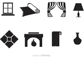 home interior vector black home interior vector icons free vector stock