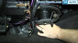 how to install replace heat air conditioning fan motor 2000 07 chevy