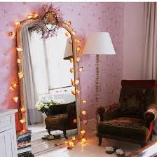 fairy light decoration ideas 20 teenage bedroom decorating ideas giant mirror armchairs