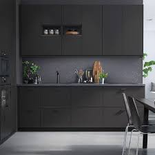 Ikea Black Kitchen Cabinets Ikea Anthracite Kitchen Cabinets Black Hardware Project 2