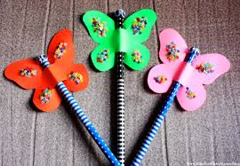 summer crafts for kids butterfly pencil topper