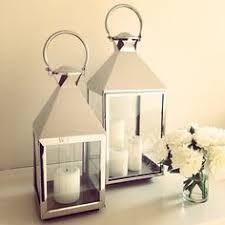 lanterns home decor nickel rectangular lantern dessau home indoor candle lanterns candle