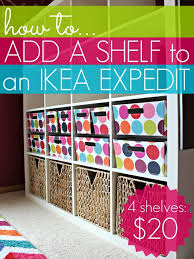 Expedit Bookshelves by How To Add A Shelf To An Ikea Expedit All Things G U0026d