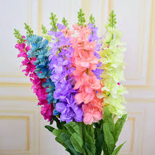 plastic flowers 3pcs silk hyacinth artificial flowers delphinium for party home