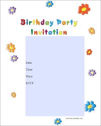 free birthday invitations free printable kids birthday party invitations templates
