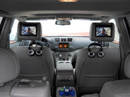 toyota highlander dvd headrest overhead and headrest audio one
