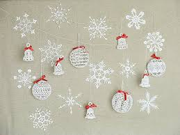 21 white tree ornament pack crochet