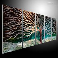 abstract handmade painting modern contemporary wall ideas design interior abstract handmade metal wall