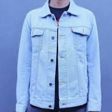 Baju Levis Biru jaket denim pria gaya terbaru lazada co id