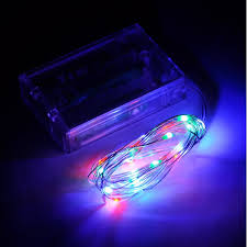 riorand micro 20 led multicolor rgb lights battery operated on 7ft