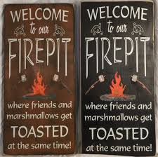 Firepit Signs Crafty Concepts