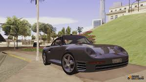 custom porsche 959 porsche 959 black revel for gta san andreas