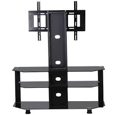 50 inch tv stand with mount amazon com world pride 3 tier adjustable black glass cantilever
