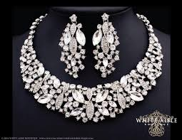 earrings with statement necklace images 55 rhinestone wedding earrings rhinestone bridal earrings silver jpg