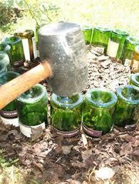 make your repurposed wine bottle fence wine bottle fence bottle