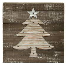 home accents corrugated metal christmas tree sign the