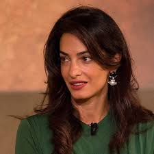 is amal clooney hair one length amal clooney speaks about her work at google zeitgeist 16 in a