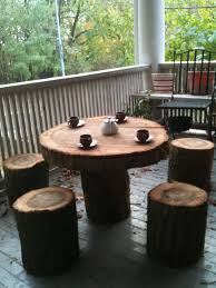 creative idea creative brown tree trunk coffee tables with iron