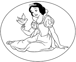 snow white coloring book sneeuwwitje sprookjes kleurplaten pinterest cross stitch