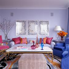 Hot Pink Living Room The King Of Color Jamie Drake NY Upper - Colors for living rooms