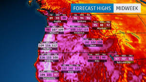 Seattle Weather Map by Extreme Heat Wave Is Cooking The Pacific Northwest