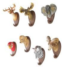 wall hanging resin animals design deer dog hook hanger coat hat