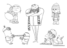 10 despicable minion coloring pages printable