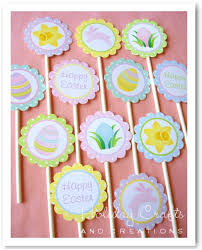 Easter Decorations For Cupcakes by Easter Cupcake Decorating Ideas Printable Toppers