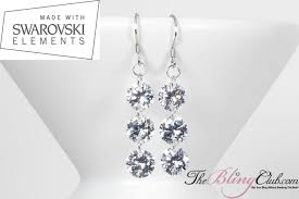 fabulous earrings fabulous sterling silver platinum swarovski drop earrings
