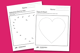 valentine worksheets paging supermom