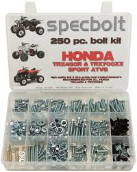 250pc specbolt honda trx450r trx450er u0026 trx700xx bolt kit for