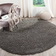 Large Round Area Rugs Cheap by Safavieh California Shag Dark Gray 6 Ft 7 In X 6 Ft 7 In Round