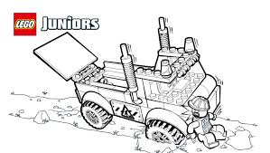 lego juniors stuck truck coloring page coloring pages lego