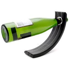 gravity leather bottle holder wine diffusion