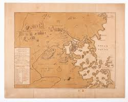 Map Of Boston Harbor by 1775 Breaking News The First Published Map Of The Revolutionary War