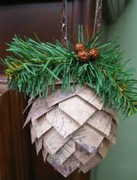 paper pinecone ornament ink paper rubber
