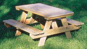 Building Plans For Hexagon Picnic Table by Stylish Wooden Picnic Tables For Vacation Inhabit Zone