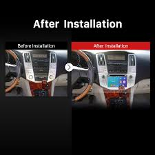 lexus rx400h dashboard quad core android 5 1 1 in dash dvd gps system for 2004 2012