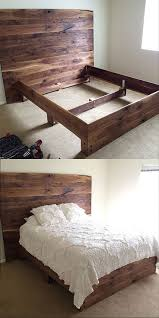 Wood Bed Frame With Drawers Plans Bed Frames Handmade Pallet Furniture For Sale How To Make A