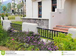 spanish style house spanish style house backyard stock photo image 57822302