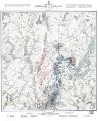 Battle Of Gettysburg Map Gettysburg 1 12 000 U S War Dept John Bachelder