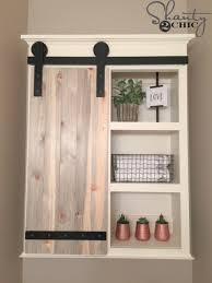 Make Sliding Cabinet Doors Diy Sliding Barn Door Bathroom Cabinet Diy Barn Door Barn Doors