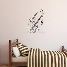online get cheap guitar wall decor aliexpress com alibaba group personalized boys name guitar wall decor stickers music notes decal for kids room decoration china