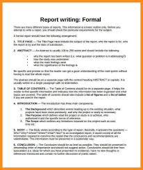 report writing format template sample business report format