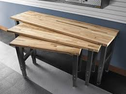 butcher block work benches kitchen islands serving carts williams butcher block hardwood bench top topic related to cool work benches at lowes com adjule workbench feet 73167034