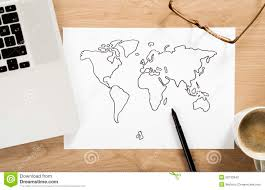 World Map Desk by World Map Sketch Stock Photo Image 50733943