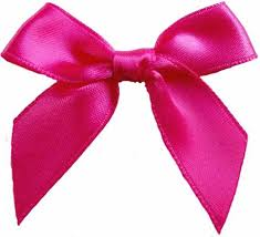 pink bows shocking pink satin large 15mm ribbon bows