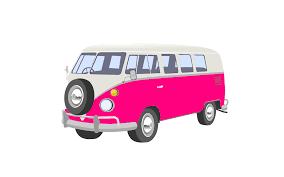 volkswagen beetle clipart pink camper van clip art at clker com vector clip art online