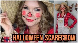 scarecrow halloween costume easy scarecrow halloween look makeup u0026 costume lipglossleslie